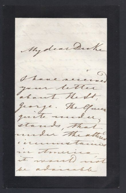 Prince Albert Prince Consort Signed Letter 1861 Prince Alfred HMS St George USA